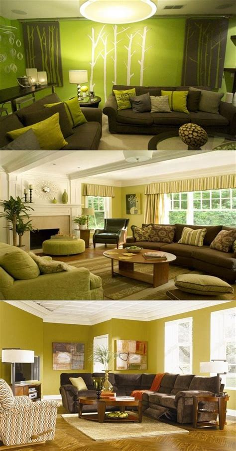 room decoration green and brown living room decor