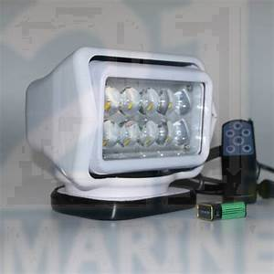 60w, Led, Searchlight, Spotlight, With, Wireless, Handheld, Remote, For, Boat
