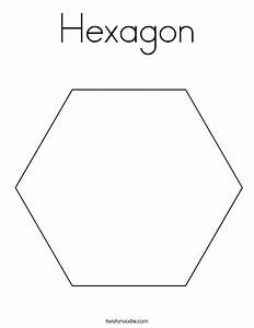 Hexagon Printable Coloring Pages