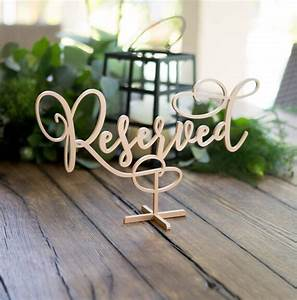Wood, Standing, Reserved, Table, Sign, For, Wedding, Custom, Painted