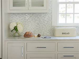 White And Gray Mosaic Marble Kitchen Wall Tiles
