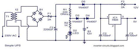 Circuits Diagram Simple Ups