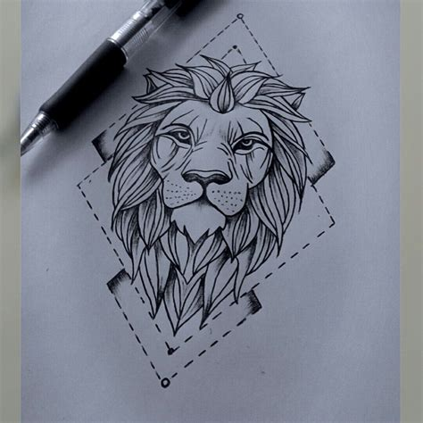 Lion Drawing €� Pinteres…