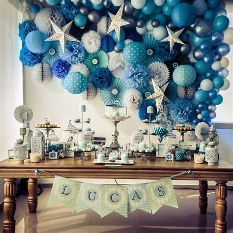blue christening decorations blue baptism naming day decor christening thoughts