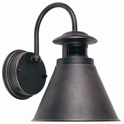 motion sensor light home depot hton bay outdoor wall lantern with motion sensor