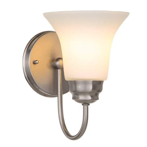 bathroom sconces nickel hton bay sconces bathroom lighting