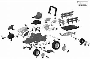Peg Perego Case Tractor And Trailer  Pedal  Parts