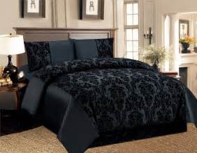 4 pcs duvet cover damask quilted luxury bedding comforter set with bed sheet uk ebay