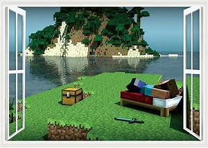 minecraft styled wall poster decal sticker