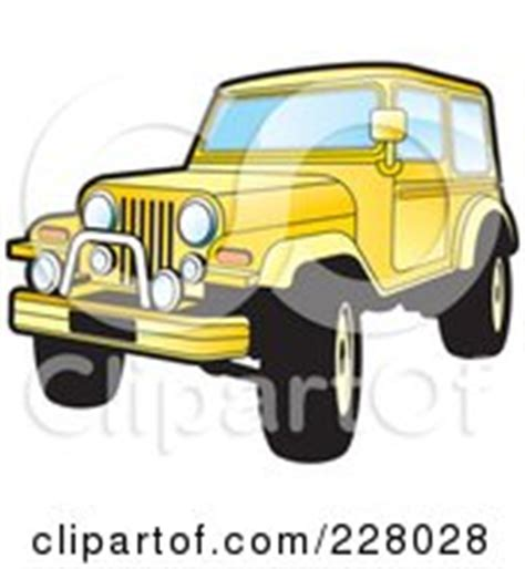 yellow jeep clipart yellow jeep wrangler posters art prints by lal perera