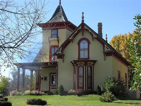 Carpenter Style House by Mid 19th Century Revival Cox House St Mn