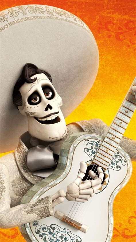 Hector coco wallpapers provide images of popular coco animations in 2017 to display the back screen of your phone. Coco (2017) Phone Wallpaper   Moviemania   Disney tattoos, Animation, Cartoon