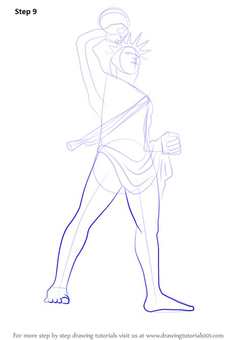 learn   draw colossus  rhodes statues step