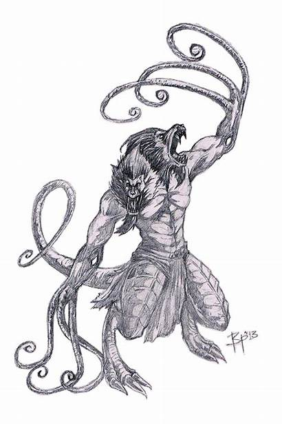 Demogorgon Coloring Dragons Pages Dungeons Concept Stranger