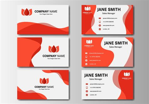 red business  card vector   vectors