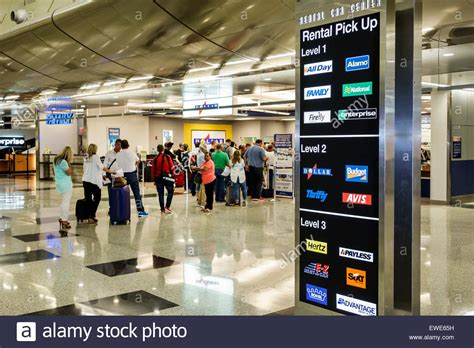 Dollar Rent A Car Of Miami by Miami Florida International Airport Terminal Concourse