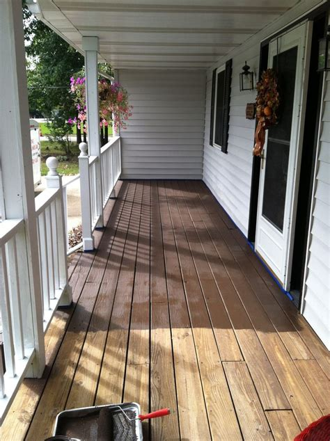 behr porch and patio paint colors behr deck in padre brown projects completed