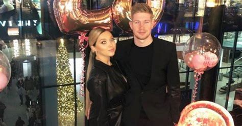 Man City star Kevin De Bruyne pictured at wife's birthday ...