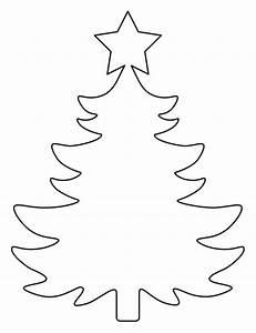Christmas Tree Printable Template Outline Pattern ...