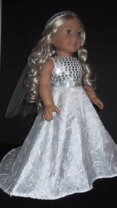 american girl doll clothes wedding gown and veil by With american girl doll wedding dress