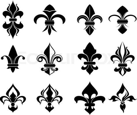 koenigliche franzoesisch lilie symbole vektorgrafik