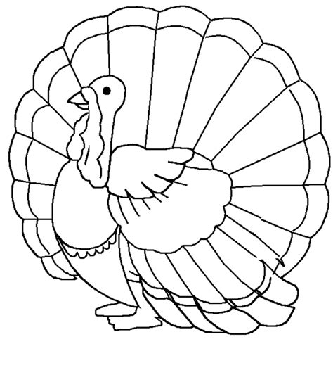 printable turkey coloring pages  kids