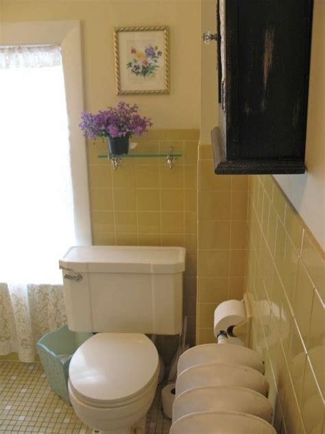yellow tile bathroom makeover  walls  painted
