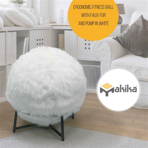ballon chaise de bureau makika ballon ergonomique ballon de fitness avec fausse