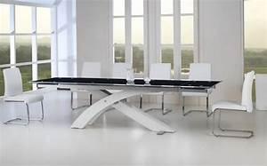 Table à Manger En Verre : table a manger verre extensible ~ Teatrodelosmanantiales.com Idées de Décoration