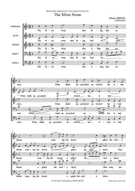 the silver swan voice satbb sheet by orlando