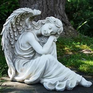 19, U0026quot, Resting, Angel, Religious, Outdoor, Garden, Statue