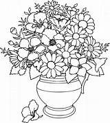 Coloring Flower Pages Simple Printable Cute sketch template