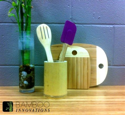 diy kitchen utensil holder 17 best images about bamboo diy on bamboo Diy Kitchen Utensil Holder