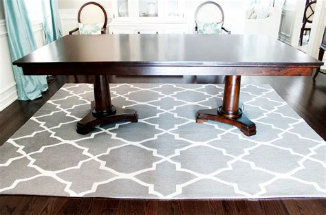 rug under dining table gray dining room rugs area rug under dining table