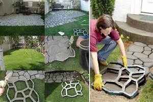 diy quikrete walkway maker patio driveway concrete stamp With build a better backyard easy diy outdoor projects