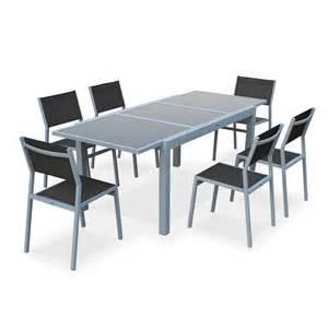Table Salon De Jardin by Salon De Jardin 6 Chaises Table 224 Rallonge Extensible 150