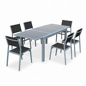 table de jardin avec rallonge integree With table de jardin aluminium leroy merlin 6 chaise et fauteuil de jardin salon de jardin table et