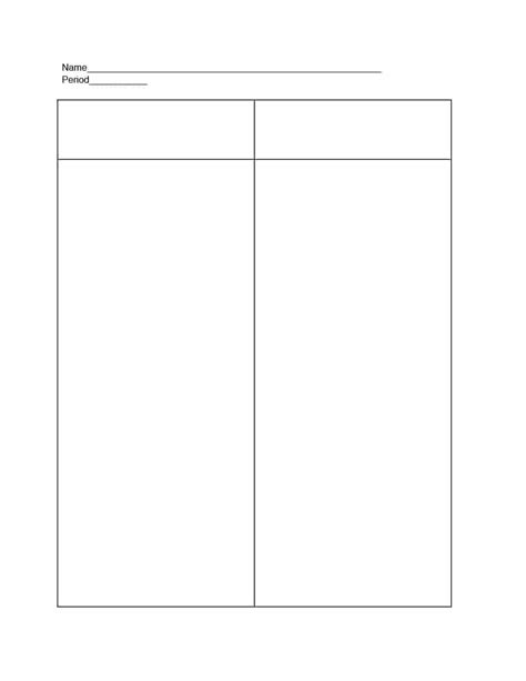 the template 30 printable t chart templates exles template archive