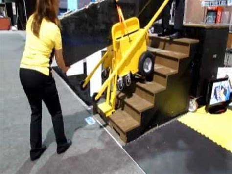stair climbing granite and slab cart at coverings 2013