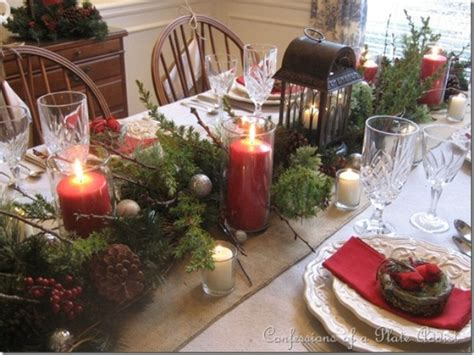 xmas table centerpieces ideas 24 inspiring rustic christmas table settings digsdigs