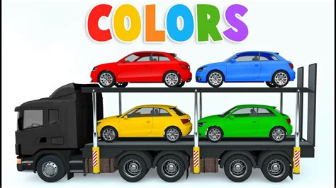 Colors For Children To Learn With Car Transporter Car Toys
