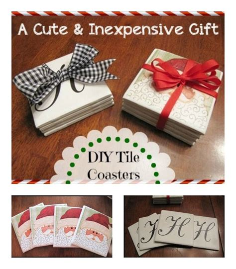 cute inexpensive  easy christmas gifts tile