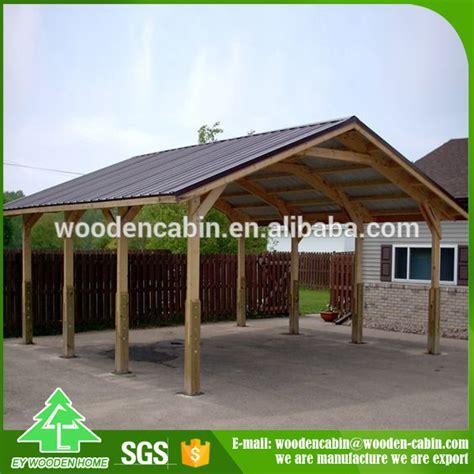 Cheap Price Prefab Wooden Carport2 Car Wooden Carport For