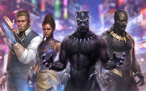 black panther marvel future fight artwork wallpapers hd