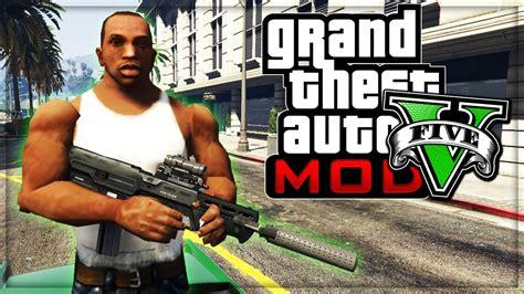 Gta 5 Cj From San Andreas Gameplay! (grand Theft Auto V