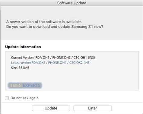 samsung z1 software firmware update z130hddu0bok2 available to in india tizen experts
