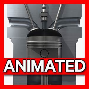 3d Cutaway Piston Engines Animation Model