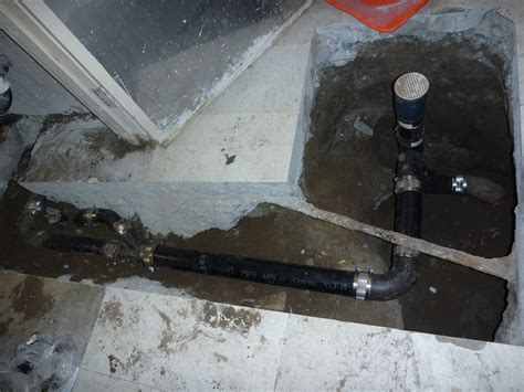Installation of clean out access and floor drain   Fix All