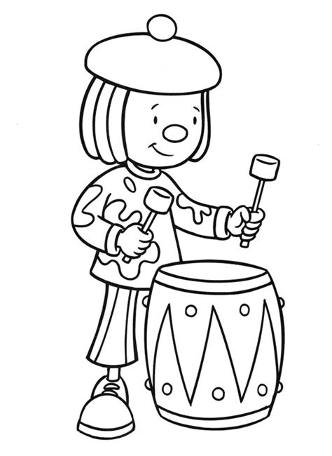 drum coloring pages    print