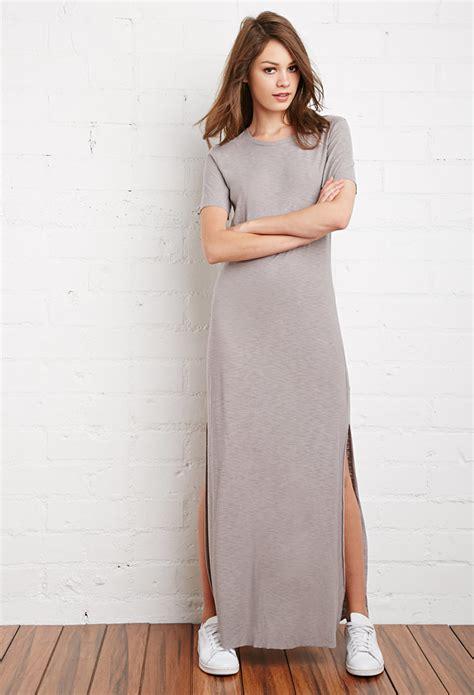 cotton maxi  shirt dress  light grey gray